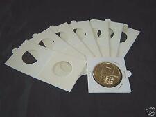 100 Cartones para monedas AUTOADHESIVOS, Leuchtturm. Diámetro 27.5 mm.