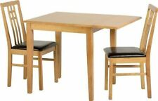Oak with Drop Leaf and 3 Pieces Table & Chair Sets