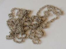 VICTORIAN SILVER FILIGREE VERY LONG CHAIN NECKLACE
