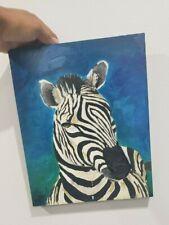 8x10 Acrylic Paint, Paint, Hand Painted, Oil Paint, Zebra Painting, Original