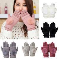 Ee _ Eg _ Mujer Bola de Piel Imitación Cachemira Pantalla Táctil Full Dedos