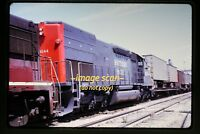 1972 SP Southern Pacific 9244 & Semi Truck Trailers at Geneseo, Orig. Slide c8a