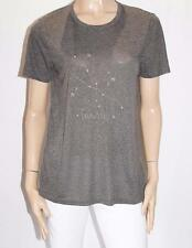 Miss Shop Brand Grey Gold Embroidered Taurus Tee Size 12-M BNWT #SL30