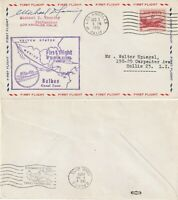 US 1951 FAM 5 FIRST FLIGHT FLOWN COVER LOS ANGELES CALIF TO BALBOA CANAL ZONE