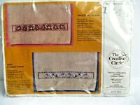 The Creative Circle fingertip Teddy towels cross stitch embroidery kit  #1644