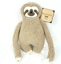 """Lulu & Coco Brown Sloth Plush Stuffed Toy Doll Easter Gift 14.5"""" Animal Taupe"""