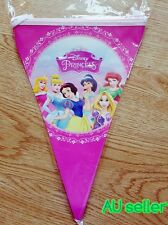 DISNEY PRINCESS FLAG BANNER PARTY DECORATIONS (10PCS) PRINCESS PARTY SUPPLIES