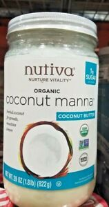 NUTIVA ORGANIC COCONUT MANNA NATURE VITALITY FOR SPREADS SMOOTHIES & MORE