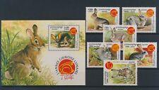 LM93922 Cambodia 1999 pets animals rabbits fine lot MNH