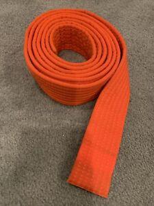 """Martial Arts Double Wrap Karate Taekwondo/Karate Orange Belt 1 3/4"""" wide EUC"""