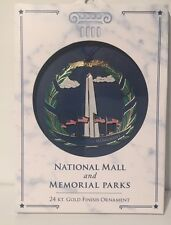 New Washington Monument Ornament 24 Karat Gold Finish Memorial Parks FREE SHIP