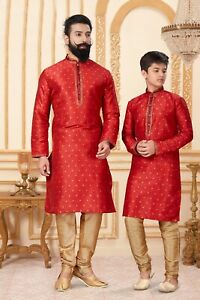 On Sale Exclusive Readymade Father Son Combo Kurta Pajama with Free Shipping
