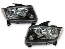 Pair Black Housing Headlights (Halogen Ver.) for 2011-2013 Jeep Grand Cherokee