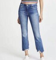 FRAME Denim NWT Women's Sz 26 Le Crop Mini Boot Destroyed High Rise Jeans
