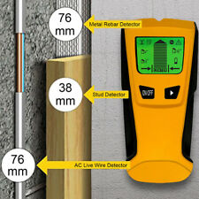 3in1 Multi Detector Stud Center Finder Metal AC Live Cable Wire Scanner LCD