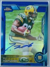 TY MONTGOMERY 2015 TOPPS CHROME BLUE REFRACTOR RC ROOKIE AUTO AUTOGRAPH SP/50