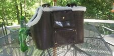 New listing Companion Road New Small Pet Dog Cat Travel Carrier Bag Purse Brown with Pockets