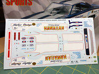 Hawaiian Dodge Charger NHRA Funny Car DECAL SHEET Revell 1:24 LBR Model Parts