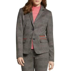 Basler Womens Plaid Suit Seperate Business Two-Button Blazer Jacket BHFO 6644