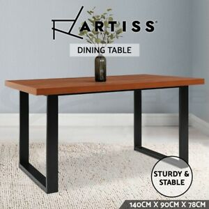 Artiss Dining Table 6 Seater Wooden Kitchen Tables Cafe Oak Black