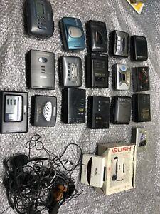 Vintage 1980's walkman cassette player Job lot
