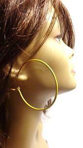 MEDIUM HOOP EARRINGS 2.25 INCH HOOP SIMPLE THIN HOOPS ASSORTED COLOR HOOPS