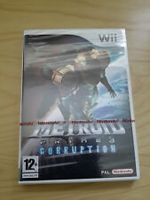 Nintendo Wii-Metroid Prime 3: Korruption U.K. Pal. Nintendo Red Strip Sealed
