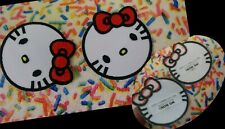 2 Pcs.Hello Kitty Iron On Patch.Licensed Sanrio.New!