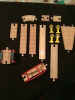 Thomas & Friends Wooden Railway - Lot of Track Bridge section Signs and Pig