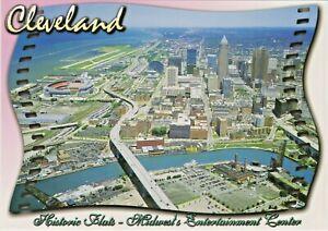 Cleveland, Ohio Skyline, Football Stadium, Airport, River, Lake & Historic Flats