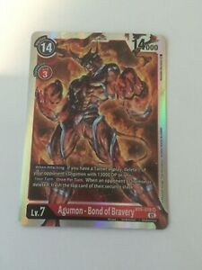 Digimon TCG  BT6-018  AGUMON - BOND OF BRAVERY   SUPER  RARE  -