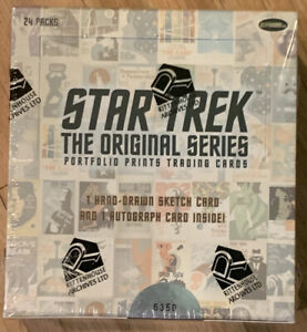 Star Trek The Original Series Portfolio Prints Trading Cards Hobby Box