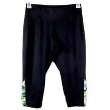 Tek Gear Pants Womens Size M Black Stretch Fitted Athletic Yoga Workout Capri