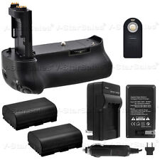 Battery Grip for Canon 5D MK IV + 2x LP-E6 Replacement Batteries + AC/DC Charger