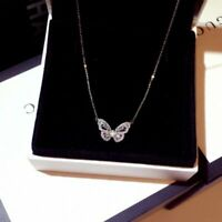 Chic Zircon Crystal Butterfly Pendant Necklace Women Choker Clavicle Jewelry Hot
