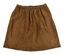 Ralph Lauren Purple Label Brown Suede Leather Skirt 8