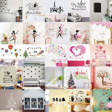 Autocollants Sticker Fleur Fille Jolie Mural Muraux Art Décoration Chambre Salon