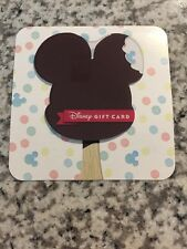 Disney Gift Card - Mickey Mouse Ice Cream Bar - No Value
