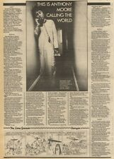 28/11/81PGN11 ARTICLE & PICTURE, THIS IS ANTHONY MOORE CALLING THE WORLD