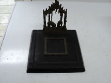 Rare Heavy Antique Black Forest?  Pen Holder with Stone Base Missing the inkwell