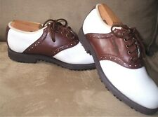 FootJoy GreenJoys Golf Shoes Womens Brown White Comfort Soft Spikes 48725 Size5M