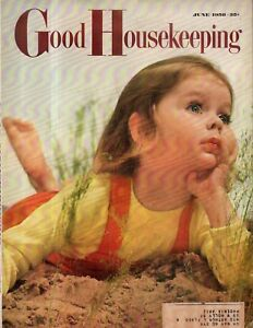 1958 Good Housekeeping June - Margaret Cousins; John Wayne, Lucille Ball; Isetta