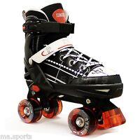 CALIFORNIA PRO KRUZ Adjustable Quad Roller Boots Retro Skates Disco 3 sizes