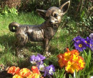 Chihuahua Dog Statue Garden or Interior Ornament