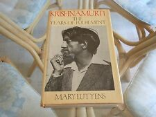 KRISHNAMURTI THE YEARS OF FULFILMENT MARY LUTYENS HC 1983 1st edition