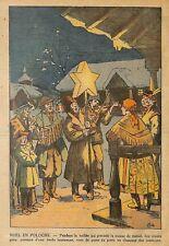 """"""" NOEL EN POLOGNE / CHRISTMAS IN POLAND """" ILLUSTRATION 1935"""