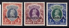 BAHRAIN George VI 1940 SG32/4 3 stamps of India opt -lightly mounted mint cat£48