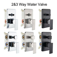 2&3 Way Out Shower Faucet Valve Chrome&Brushed Nickel&ORB Shower Control Valve