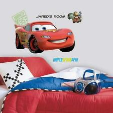 Cars 2 Lightning Peel & Stick Giant Wall Decal, RoomMates, 27x40in - NEW
