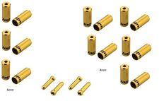 Kit Terminali Guaine 4mm Jagwire Completo x Una Bici Col.Gold/PRO END CAPS GOLD